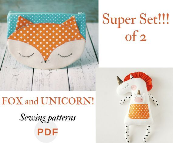 Stuffed animal pattern PDF Easy tutorial Easy unicorn sewing Beginner sewing pat...