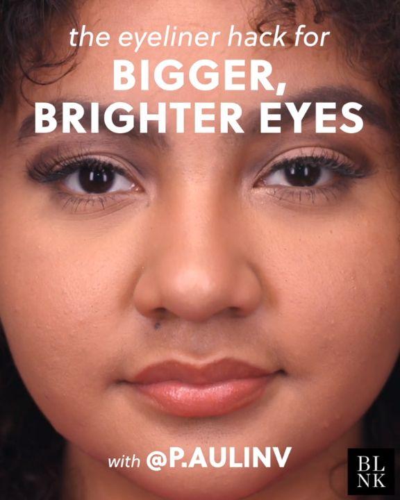 The Eyeliner Hack for Bigger Brighter Eyes #blinkbeauty #makeuptutorial #beautyt...