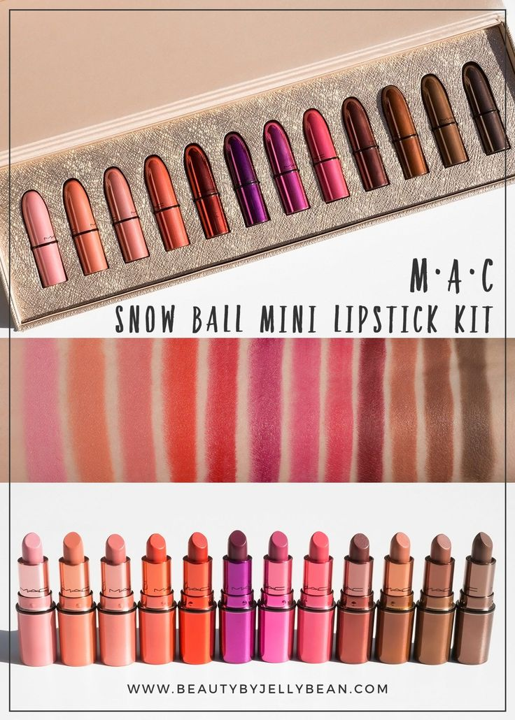 The MAC Snow Ball Mini Lipstick Kit for Holiday 2017 is a beautiful set with 12 ...