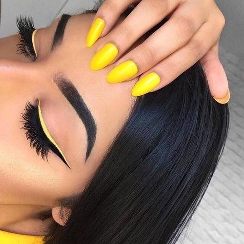 Yellow eyeliner Tutorial Ideas Tips Mac Products Organization Natural Looks Hack...