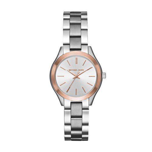 Michael Kors Women's Mini Slim Runway Silver-Tone Watch MK3514 -- Visit the ...