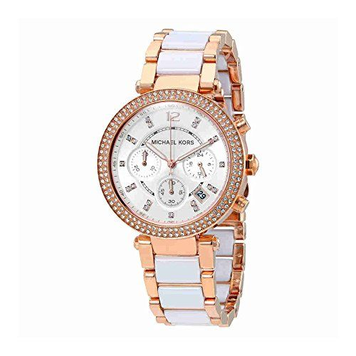 Michael Kors Women's Parker Rose Gold-Tone Watch MK5774 ** You can find more det...