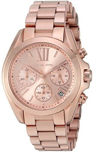 Michael Kors Womens Bradshaw Rose GoldTone Watch MK5799 ** Visit the image link ...