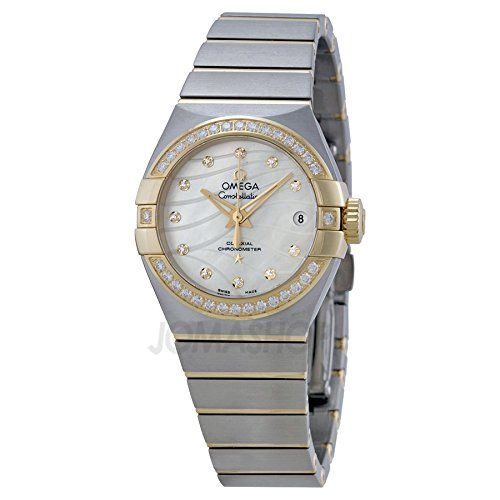 Omega Constellation Mother of Pearl Dial Steel and 18kt Yellow Gold Ladies Watch...