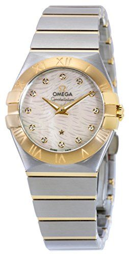 Omega Womens Constellation Swiss Quartz Stainless Steel Dress Watch ColorTwo Ton...