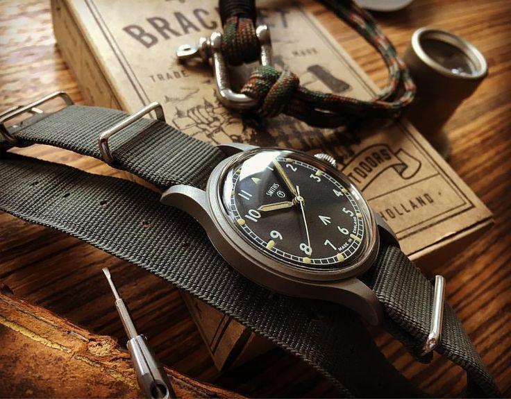 smiths military vintage watch and monsieur bojangles paracord sailor bracelet