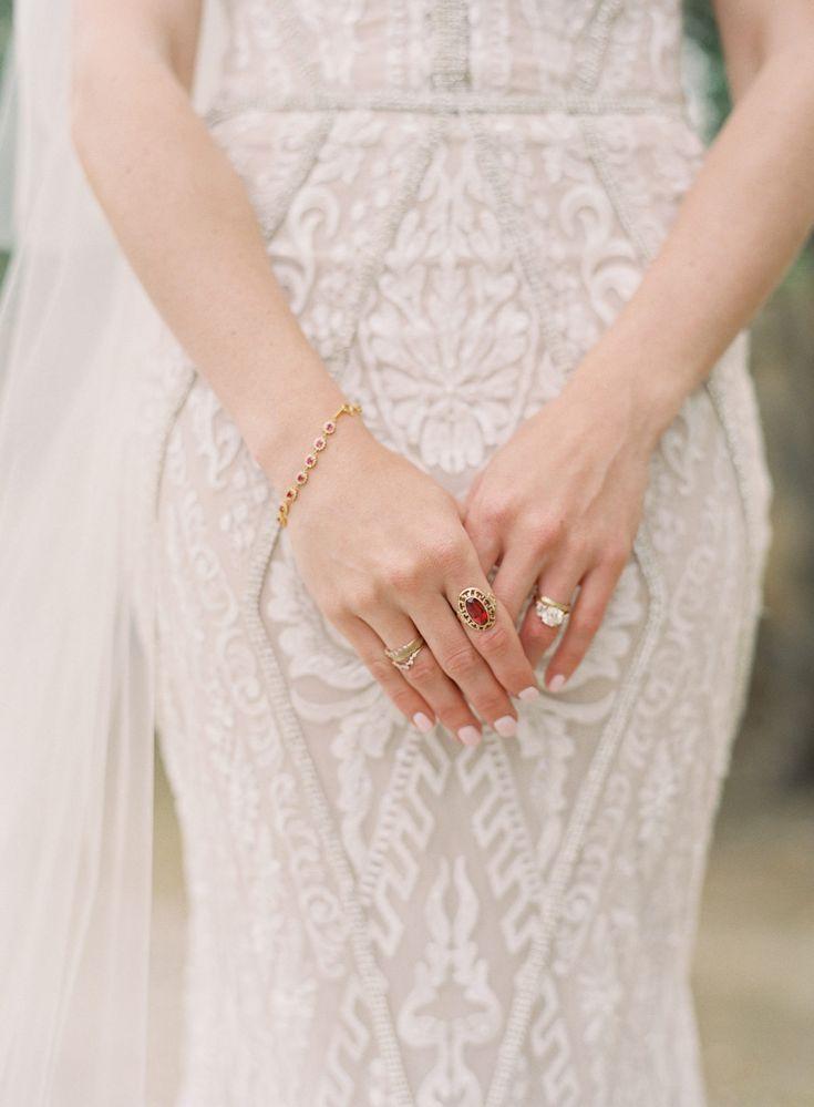 A gorgeous jewel-toned wedding set at Sunstone Vineyards.  Floral Design: Forage...