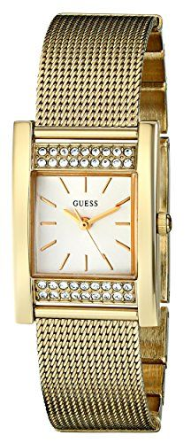 GUESS Women's U0127L2 Crystal-Accented Gold-Tone Watch ** Find out more abou...