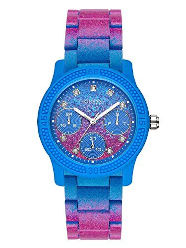 GUESS Womens Quartz Rubber and Silicone Casual Watch ColorBlue Model U0944L2 -- ...