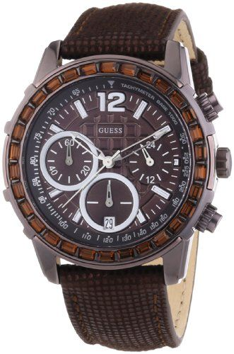 Guess W0017L4 Ladies LADY B Chronograph Brown Watch *** Check out the image by v...