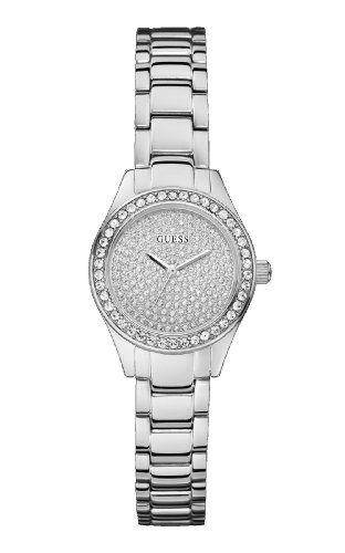 Guess W0230L1 Silver Steel Bracelet  Case Mineral Womens Watch ** Learn more by ...