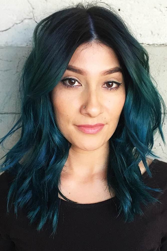 Aqua Teal #tealhair #brunette ❤️ What can compare to the gorgeous charm of t...