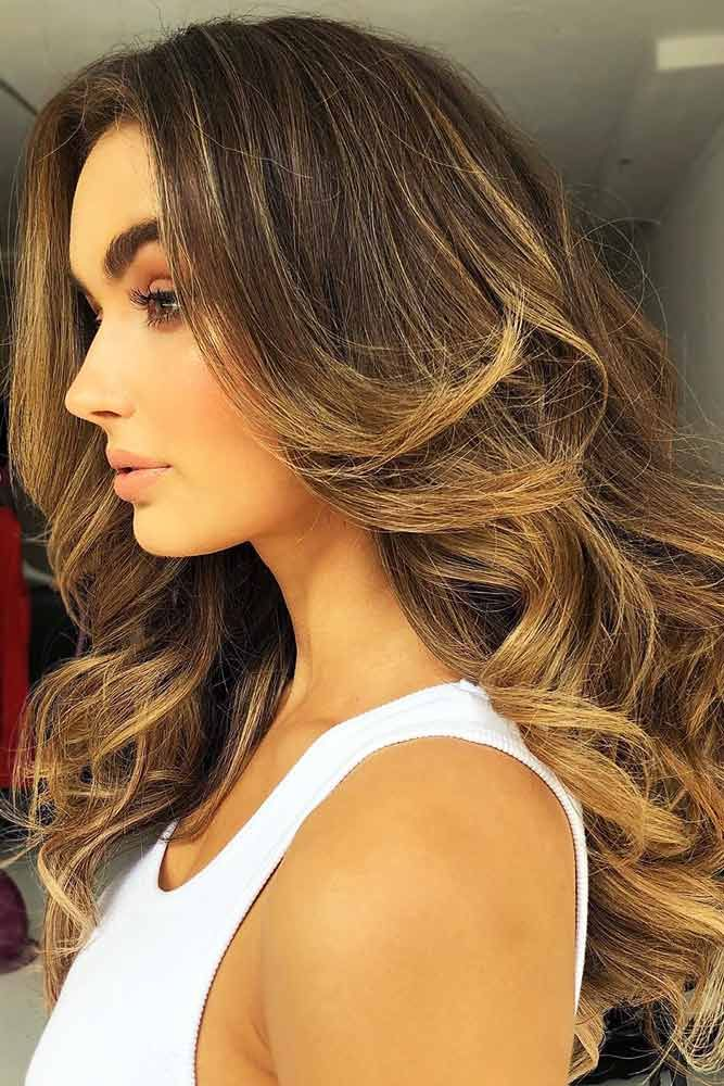 Brunette With Honey Gold Vibes #brownhair #blondehair #brunette ❤️ Brown hai...
