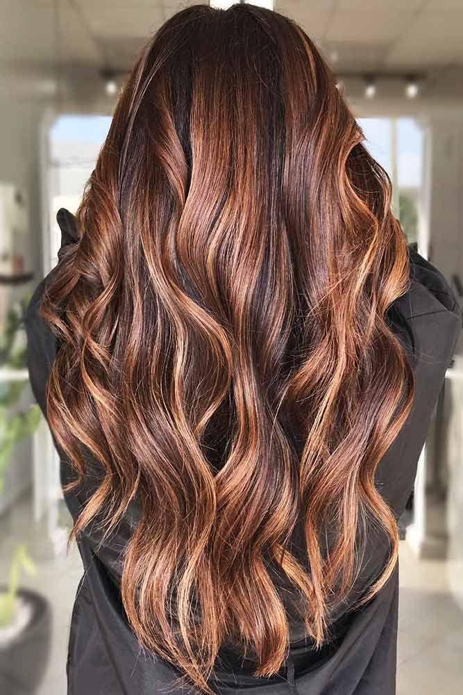 Brunette With Light Chestnut Brown Locks #chestnuthair #brownhair #brunette #hig...