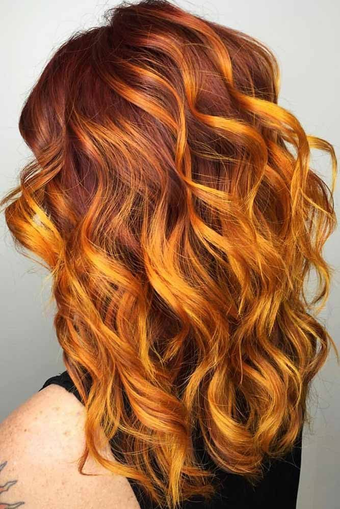 Coppery Red Highlights #redhair #highlights ❤️ Want to spice up your hair wi...