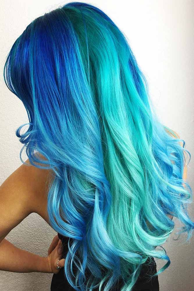 Criss Cross Ombre #tealhair #bluehair ❤️ What can compare to the gorgeous ch...