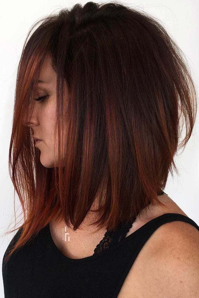 Dark Copper Lowlights #brunette #redhair #highlights ❤️ Want to spice up you...