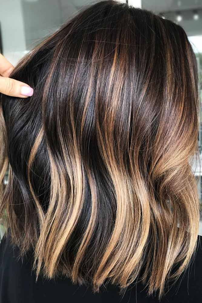 Dark, Warm Gold #brownhair #blondehair #balayage ❤️ Brown hair is a charming...