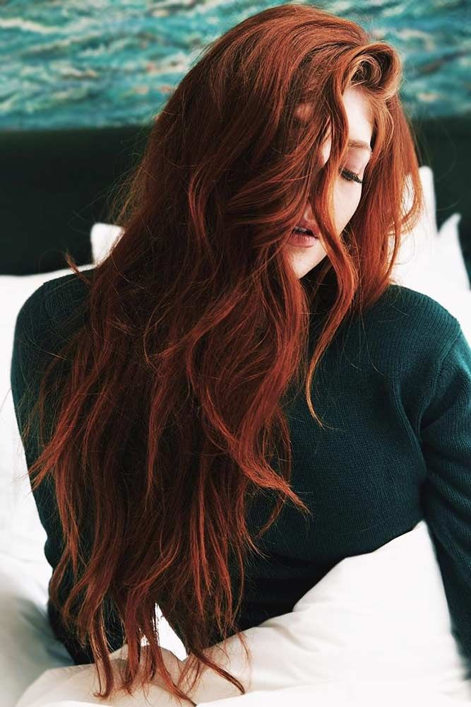 Deep Auburn With Ginger Hues #redhair ❤️ An auburn hair color is the trend o...