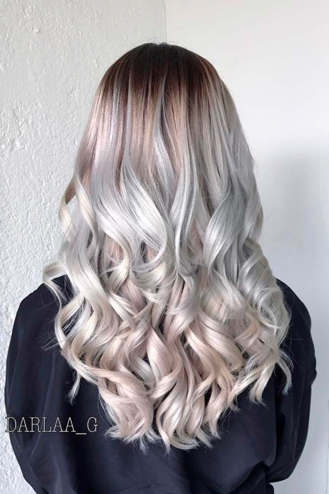 Far Out Frost #grayhair ❤️ Gray hair is becoming quite trendy thanks to pop ...