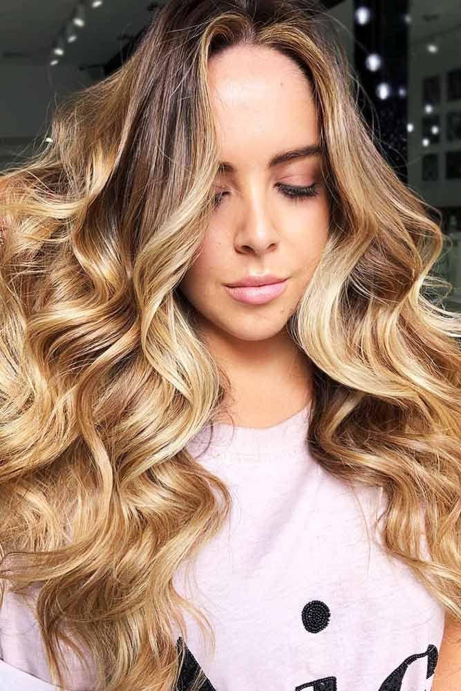 Fresh And Warm Honey Beige Blonde Hair #blondehair #honeyblonde #balayage ❤️...