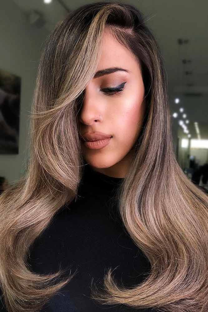 Hair Color - Sandy Beige Balayage #brunette #balayage ❤️ We have chosen the ...