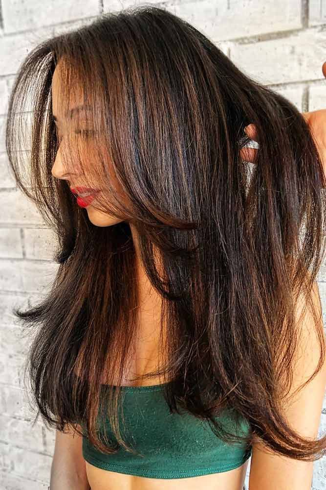 Hazelnut Lowlights #lowlights #brunette #brownhair ❤️ If you want to make yo...