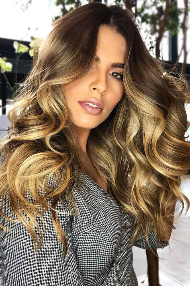 Honey Blonde Ombre Over Brownish Base #blondehair #honeyblonde #brunette #ombre ...
