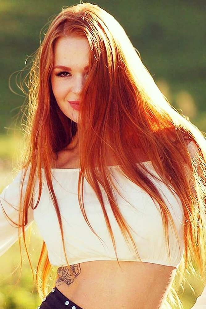 Light Crimson Hair Color #redhair #straight ❤️ We've found for you the bes...