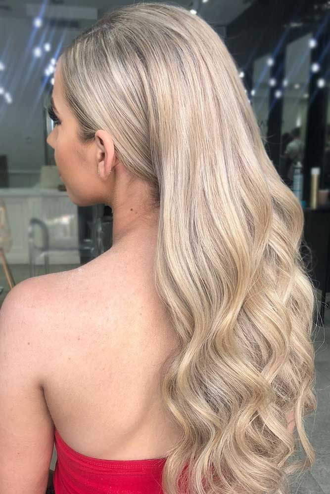 Long Platinum Blonde Hair Ashy Roots #blondehair #platinumblonde ❤️ Platinum...