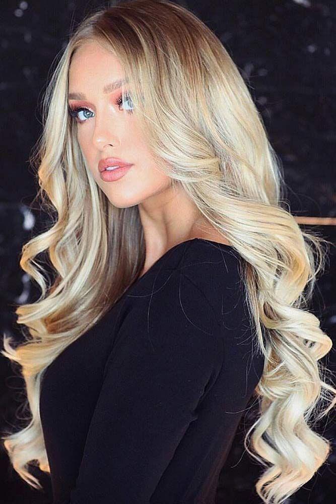 Long Platinum Creamy Blonde Hair #blondehair ❤️ Platinum blonde hair is the ...