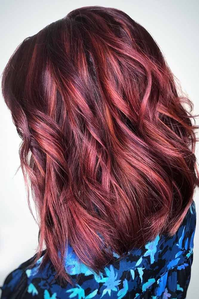 Mahogany Base With Rose Copper Highlights #brunette #highlights ❤️ Want to s...