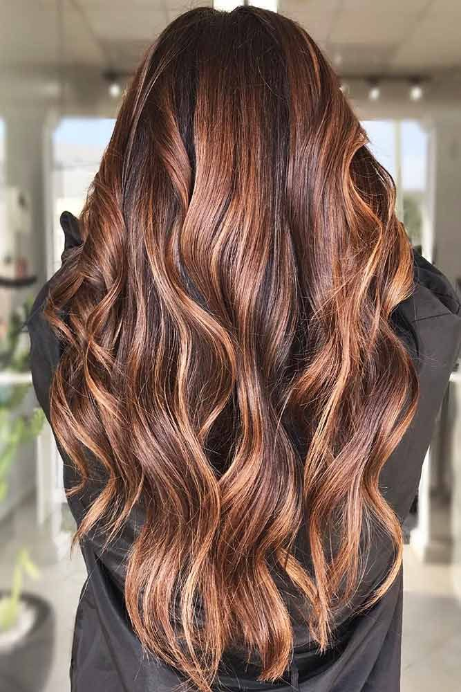Medium Warm Tone #brownhair #highlights ❤️ Brown hair is a charming mixture ...