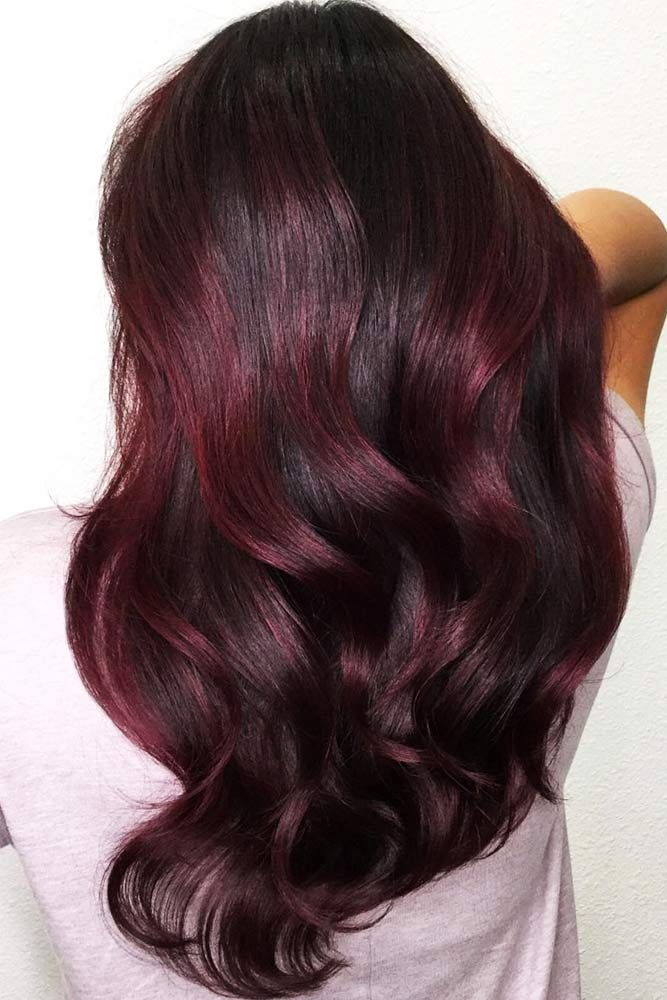 Midnight Rose Balayage #redhair #balayage #brunette ❤️  Mahogany hair is a m...