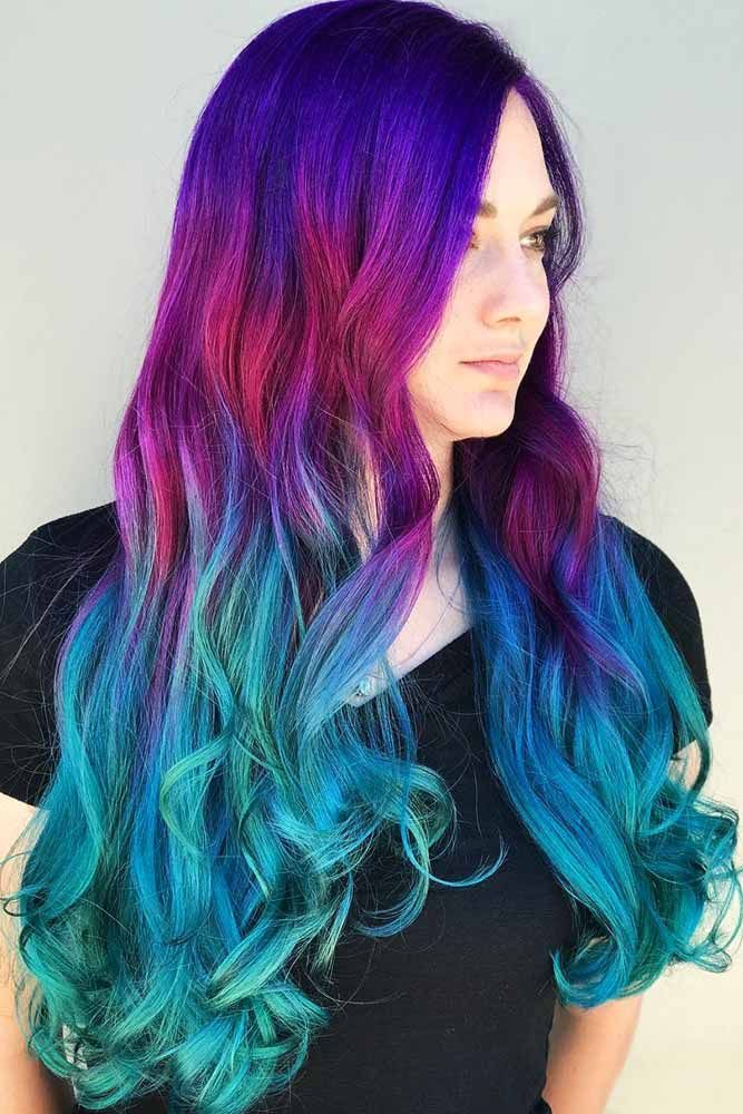 Nightfall Aquatic Ombre #bluehair #purplehair #ombre ❤️ What about blue ombr...