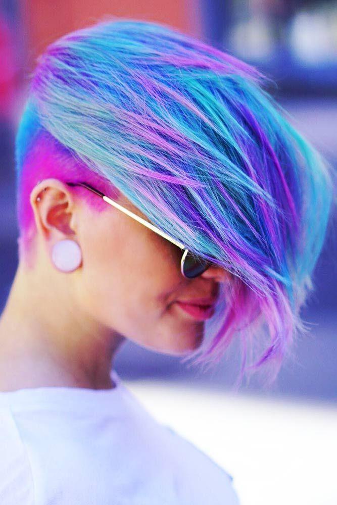 Pastel Blue With Light Purple #purplehair #pinkhair ❤️ Purple and blue hair ...