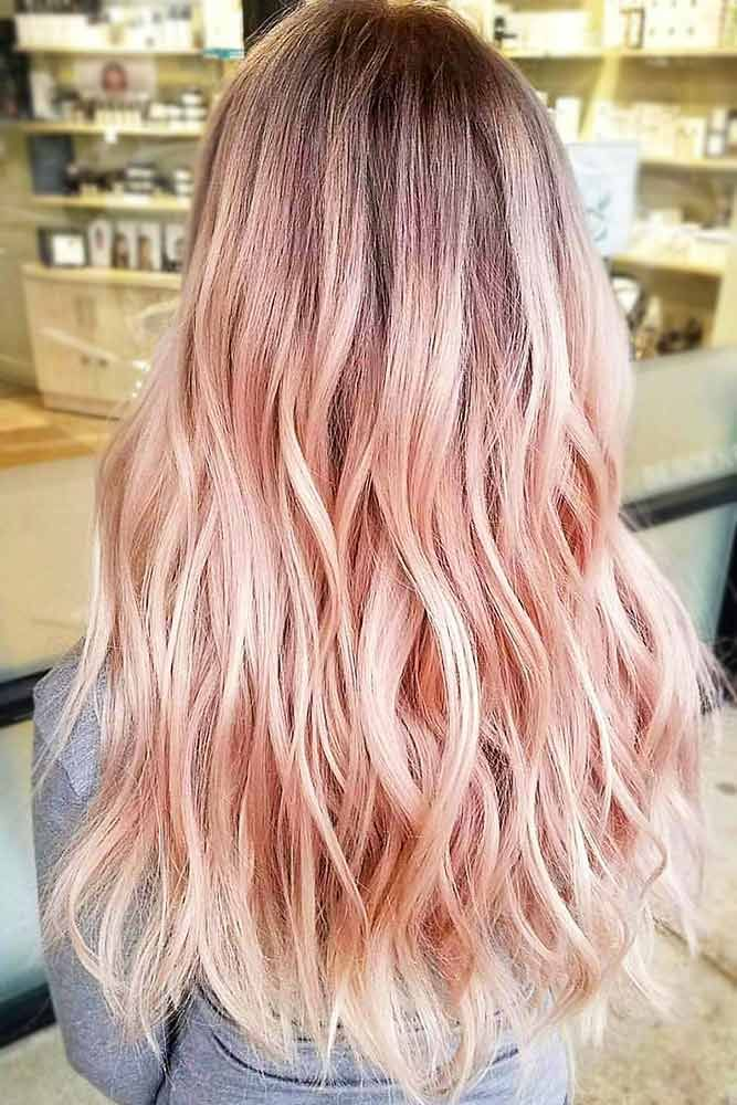 Pastel Strawberry Blonde Balayage #blondehair #strawberryblonde #balayage ❤️...