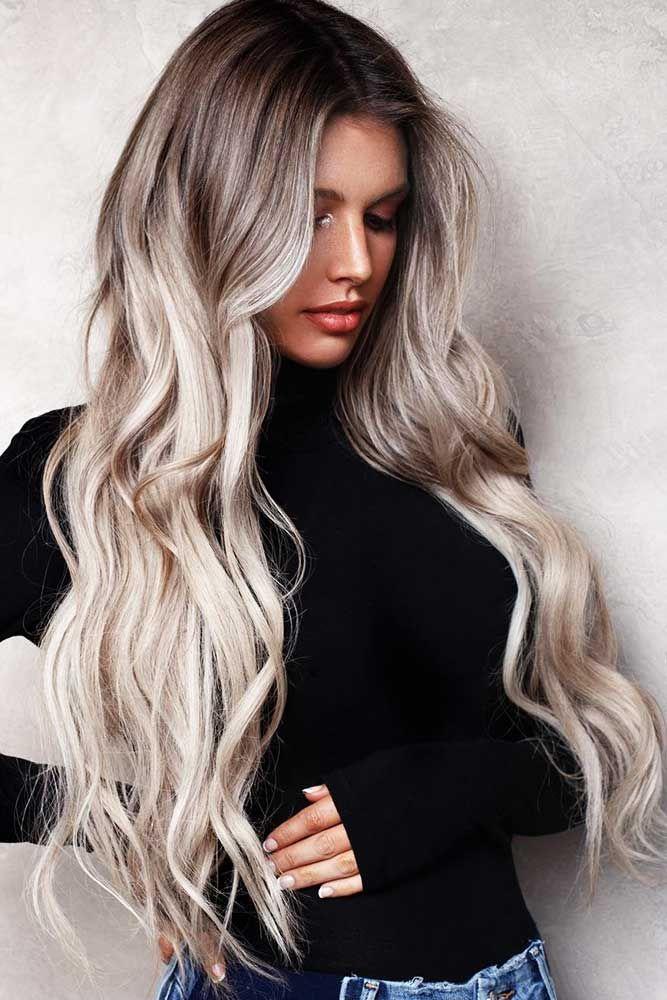 Platinum Blonde Dye Variations: Ashy Ombre #blondehair #ombre ❤️ Platinum bl...