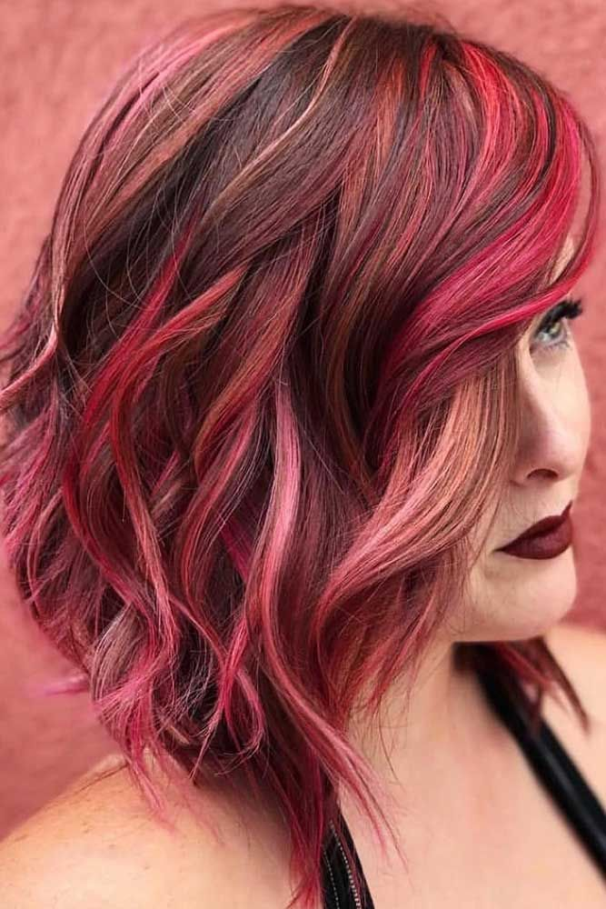 Red Velvet Highlights #redhair #brunette #highlights ❤️ Want to spice up you...