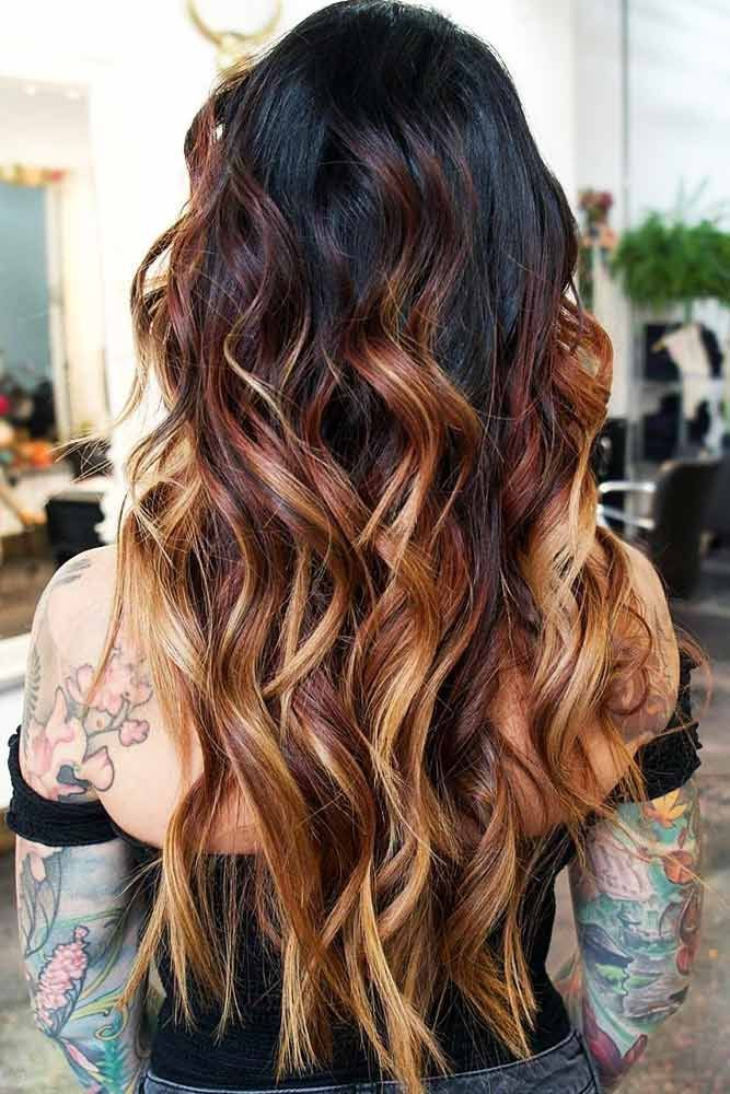 Red-to-Blonde Gradient #brunette #blondehair #redhair #highlights ❤️ Want to...