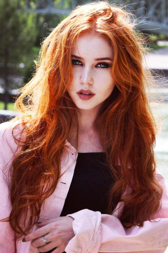 Reddish Crimson Hair Color #redhair #wavyhair  ❤️ We've found for you the ...