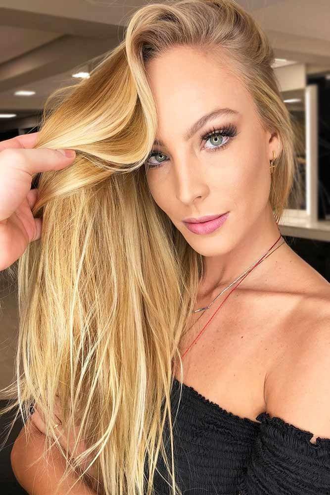 Soft Honey Blonde Highlights For Natural Blondes #blondehair #honeyblonde #highl...