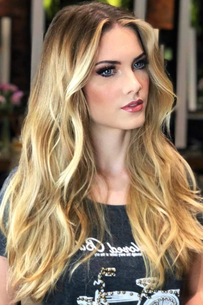 Sun Kissed Honey Blonde Highlights #blondehair #honeyblonde #highlights ❤️ W...