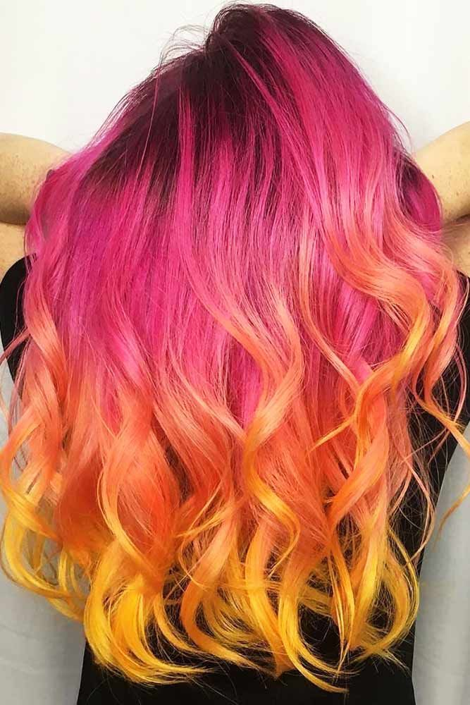 Triple Coloring With Strawberry Blonde Fuchsia #strawberryblonde #yellowhair ❤...