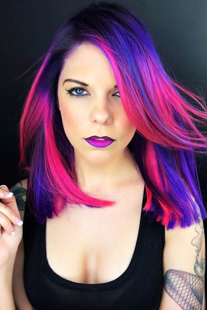 Violet Blue With Purple Ends #purplehair #violethair ❤️ Purple and blue hair...