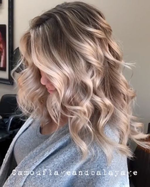 @camouflageandbalayage Ice Ice Baby Icy ❄️ Blonde Contrast Babylights, tease...