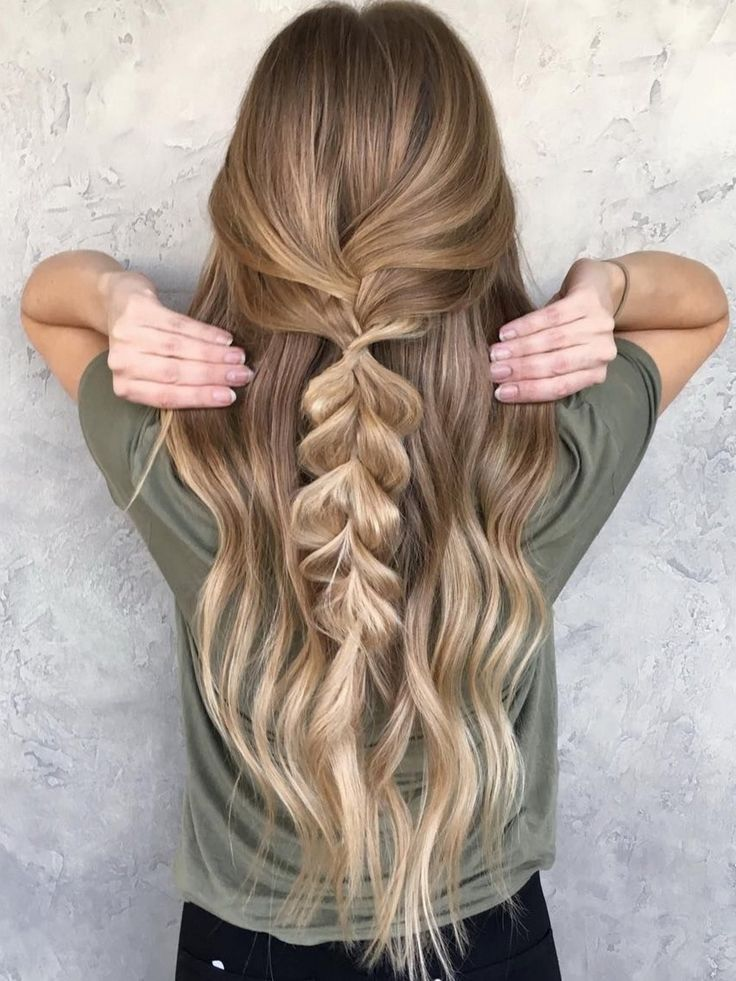 easy half up hair with pull through braid