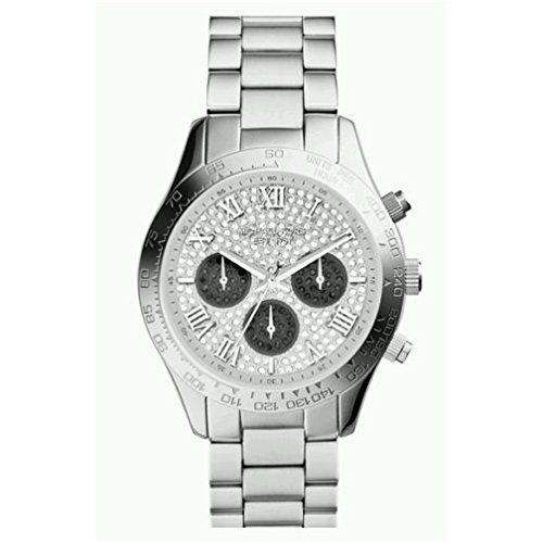 Michael Kors MK5977 Women's Layton Pave Crystals Dial Silver Tone Stainless ...