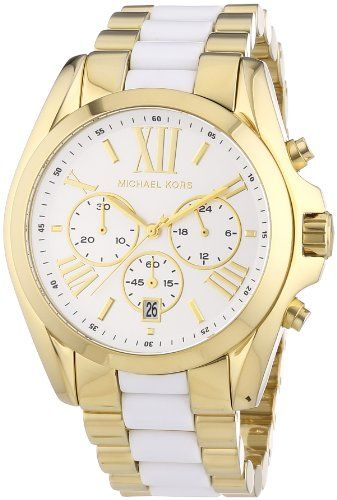 Michael Kors Women's Bradshaw Chronograph Watch, Gold, One Size ** You can g...