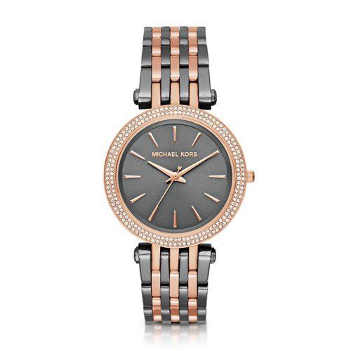 Michael Kors Women's Darci Grey Rose Gold-Tone Watch MK3584 *** You can get ...